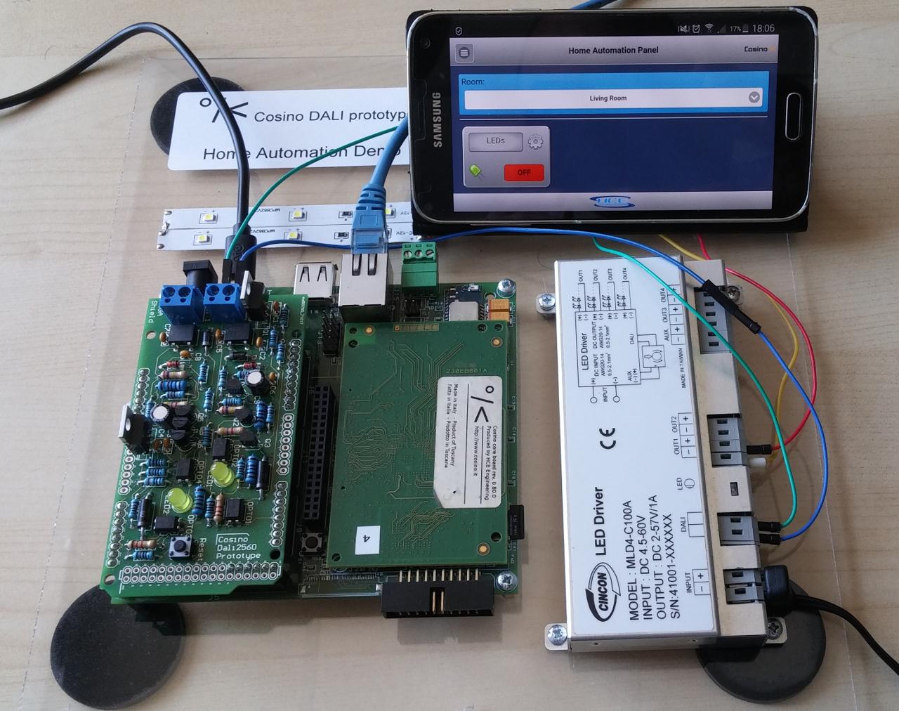 Cosino DALI Home Automation system